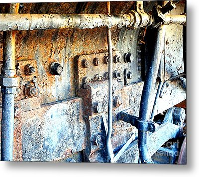 Rail Rust - Locomotive - Nuts And Bolts Metal Print by Janine Riley