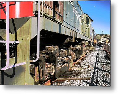 Metal Print featuring the photograph Rail Truck by Michael Gordon