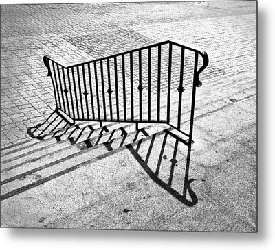 Railing Metal Print by Larry Butterworth