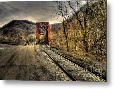 Railroad Bridge Metal Print by Brenda Bostic