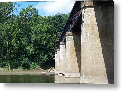 Metal Print featuring the photograph Railroad Bridge by John Mathews