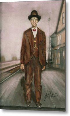 Railroad Man Metal Print by Leah Wiedemer