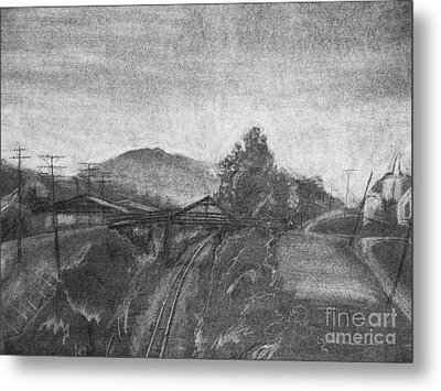 Railroad To Coal Mine. Metal Print