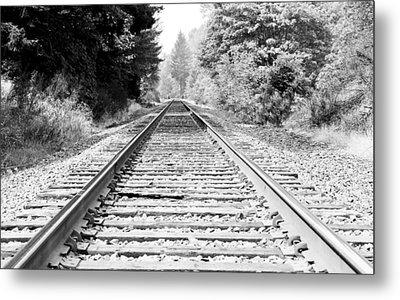 Railroad Tracks Metal Print by Athena Mckinzie