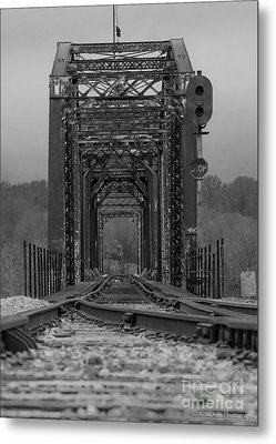 Railroad Trestle Metal Print by Rick McKee