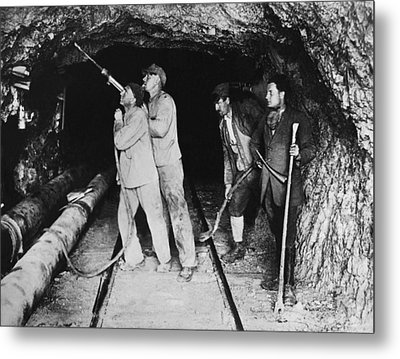 Railroad Tunnel In The Alps Metal Print