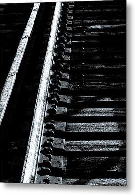 Rails And Ties Metal Print by Bob Orsillo