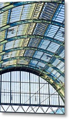 Railway Station Roof Metal Print