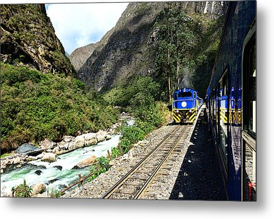 Railway To Machu Picchu Metal Print