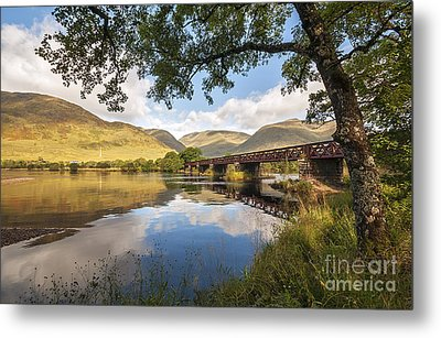 Railway Viaduct Over River Orchy Metal Print