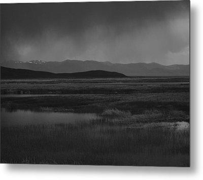 Rain At The Marshes Metal Print by Jenessa Rahn