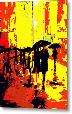 Rain Metal Print by David Alvarez