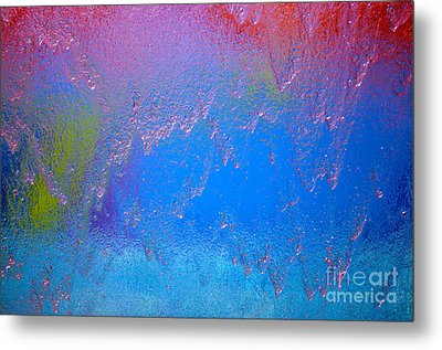 Rain Drops Abstract Metal Print