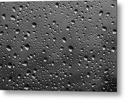 Metal Print featuring the photograph Rain Drops.... by Photography  By Sai