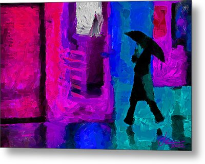 Rain In January Tnm Metal Print by Vincent DiNovici