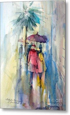 Rain Metal Print by Natalia Eremeyeva Duarte