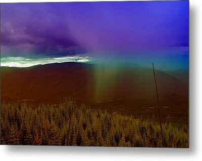 Rain North Of Bonners Ferry Metal Print by Jeff Swan