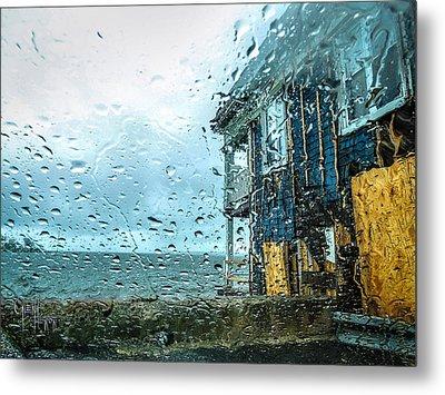 Metal Print featuring the photograph Rain On Rowing Club House by Glenn Feron
