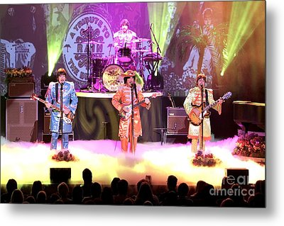 Rain  The Beatles Tribute Band Metal Print by Concert Photos