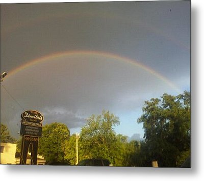 Rainbo And Alien Craft Point Of Entry Into Earth Atmosphere Shown In Upper Right Corner. Metal Print by Marvin Harding