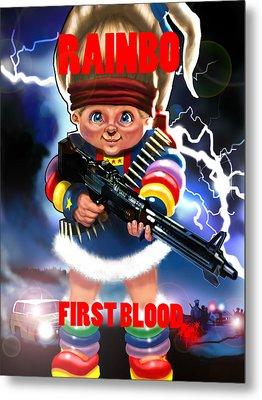 Rainbo First Blood Metal Print by Tim Myers