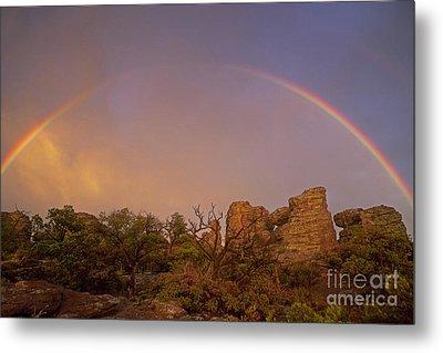 Rainbow At Chiricahua Metal Print by Keith Kapple