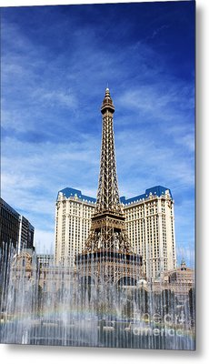 Rainbow At Paris Metal Print
