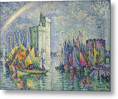 Rainbow At The Port Of La Rochelle Metal Print by Paul Signac
