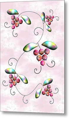 Rainbow Berries Metal Print