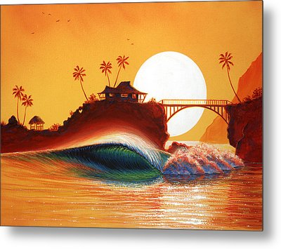 Rainbow Bridge Metal Print by Patrick Parker