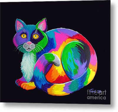Rainbow Calico Metal Print by Nick Gustafson