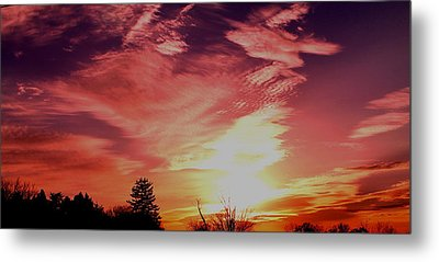 Metal Print featuring the photograph Rainbow Clouds by Candice Trimble
