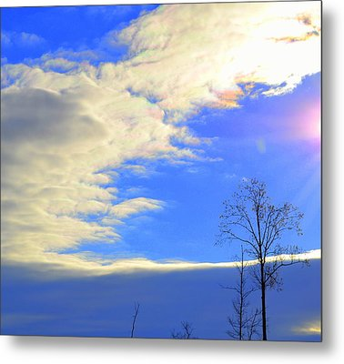 Rainbow Clouds Metal Print
