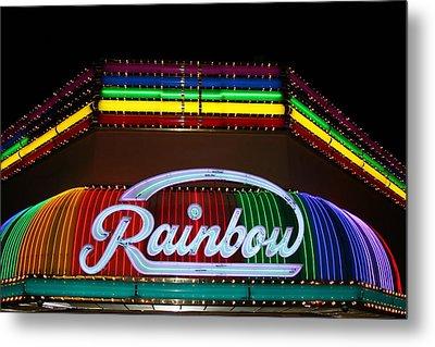 Rainbow Club Neon Metal Print