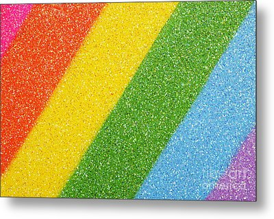 Rainbow Colors On Top Of A Box Metal Print