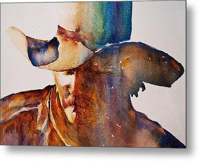 Rainbow Cowboy Metal Print by Jani Freimann