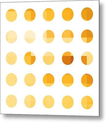 Rainbow Dots Orange Metal Print by Pixel Chimp