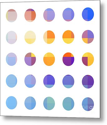 Rainbow Dots  Metal Print