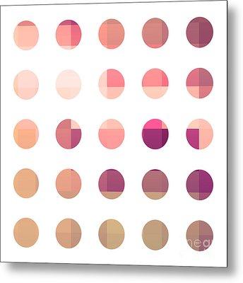Rainbow Dots Rose Metal Print by Pixel Chimp