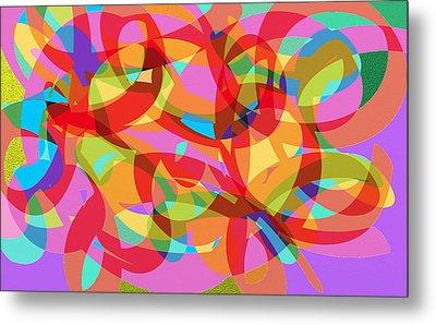 Rainbow Explosion Metal Print