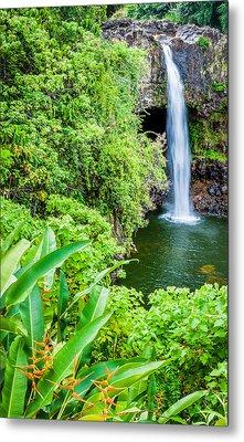 Rainbow Falls - Hawaii Waterfall Photograph Metal Print by Duane Miller