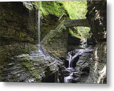 Rainbow Falls Metal Print by Gene Walls