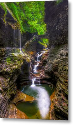 Rainbow Falls Of Watkins Glen Metal Print by Mark Papke