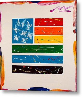 Rainbow Flag Metal Print by Mac Worthington