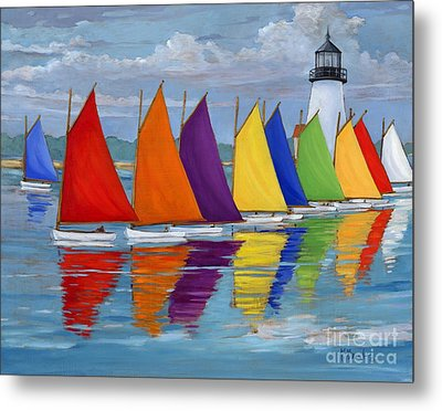 Rainbow Fleet Metal Print by Paul Brent