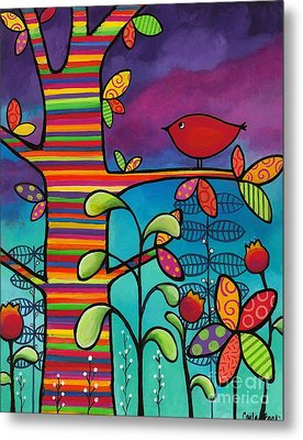 Rainbow Forest Metal Print by Carla Bank