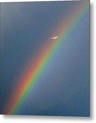 Rainbow Gods Promise. Metal Print by Joyce Woodhouse