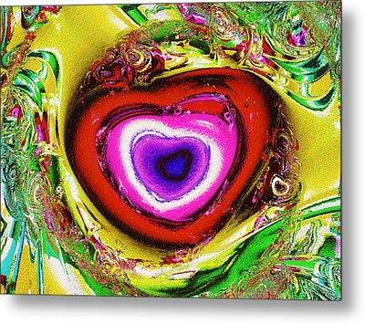 Rainbow Heart Metal Print by Anastasiya Malakhova