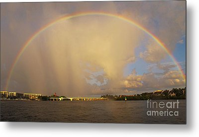 Rainbow Jupiter Inlet Metal Print by Bruce Bain