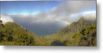 Rainbow Kalalau Valley Metal Print by Norman Blume